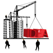 Idea home construction.Vector — Stock Vector