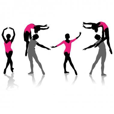 Ballet silhouette collection.Vector