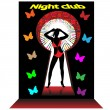 Royalty-Free Stock Imagem Vetorial: Night club.Vector
