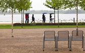 Regenspaziergang — Foto Stock