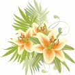 Lily flowers — Stock Vector #6037764