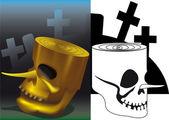 Pinocchio Skull — Stock Vector