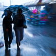 Rushing on the rainy street — Stock Photo