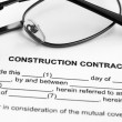 Royalty-Free Stock Photo: Construction contract