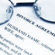 Divorce agreement — Stock Photo