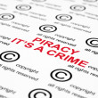 Royalty-Free Stock Photo: Copyright piracy