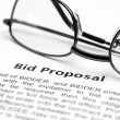Bid proposal — Stock Photo