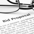 Bid proposal - Stock Photo
