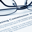 Stock Photo: Leasing commission agreement