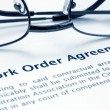 Work order agreement — Stock Photo