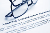 Leasing commission agreement — Stock Photo