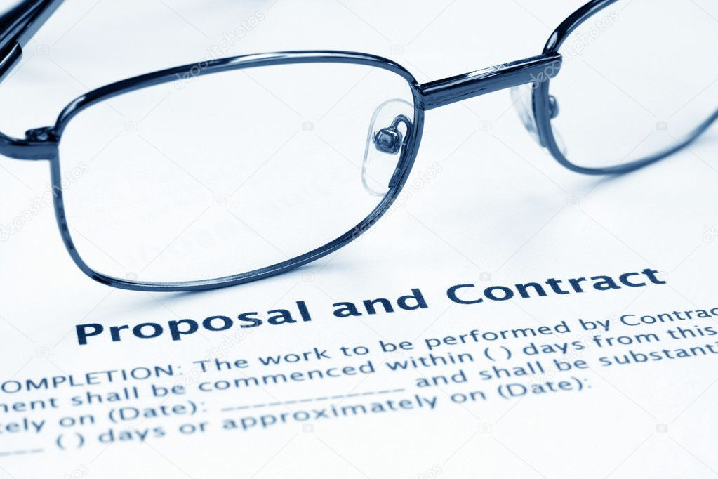 Proposal and contract — Stock Photo #6246155