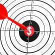 Royalty-Free Stock Photo: Dollar target