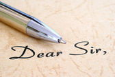 Dear sir — Foto Stock