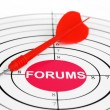 Royalty-Free Stock Photo: Forum target