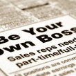 Stock Photo: Be your own boss