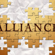 Alliance rpuzzle — Stock Photo