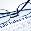 Credit balance report — Stock Photo