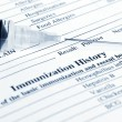 Immunization history form — Stock Photo