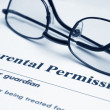 Parental permission form — Stock Photo