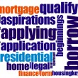 Royalty-Free Stock Photo: Mortgage word cloud