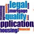 Loan word cloud - Stock Photo