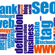 Stock Photo: Web word cloud