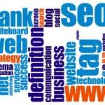 Web word cloud — Stock Photo