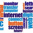 Internet word cloud — Stock Photo