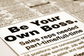Be your own boss — Stockfoto