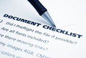 Document checklist — Stock Photo