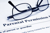 Parental permission form — Stock Photo
