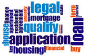 Loan word cloud — Stock Photo