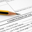 Stock Photo: Computation of tax