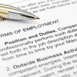 Employment form — Stock Photo #6403398