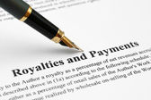 Royalties and payments — Stock Photo
