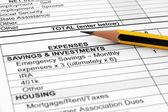 Expenses form — Stock Photo