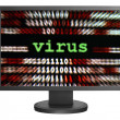 Virus over binary data — Stock Photo #6458285