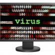 Virus over binary data — Stock Photo