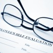 Employee self evaluation form — Stock Photo