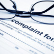 Complaint form — Stock Photo