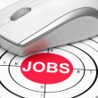 Jobs target — Stock Photo