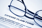 Expense claim form — Stock Photo