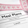 Stock Photo: Meal plans