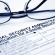 Social security card application - Stock Photo
