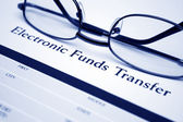 Electronic funds transfer — Stock Photo