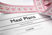 Meal plans — Stock Photo