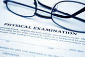 Physical examination form — Stock Photo