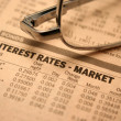 Stock Photo: Interest rates - market