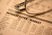 Interest rates - market — Stock Photo